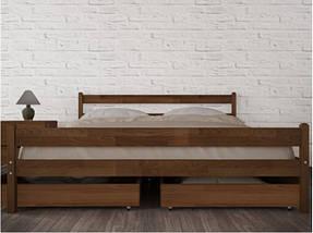 Кровать полуторная из натурального дерева АУРЕЛЬ Джулия Люкс ШхГ - 120х190 см, фото 2
