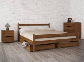 Кровать полуторная из натурального дерева АУРЕЛЬ Джулия Люкс ШхГ - 120х190 см, фото 3