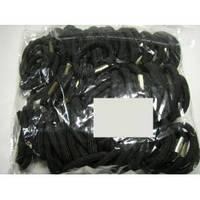Резинка для волос чёрная с металлической скобой, упаковка 50 шт.