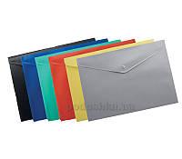Папка-конверт А4 на кнопке Buromax Jobmax  цвет черный