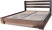 Кровать полуторная из натурального дерева с подъёмным механизмом Эстелла СЕЛЕНА (спальное место ШхГ - 1200х2000)