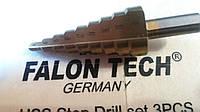 Сверло конусное ступенчатое 4,0 - 20,0 мм Falon Tech
