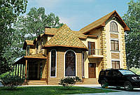 Строительство дома из сип панелей 298,80м.кв. «НЕАПОЛЬ»