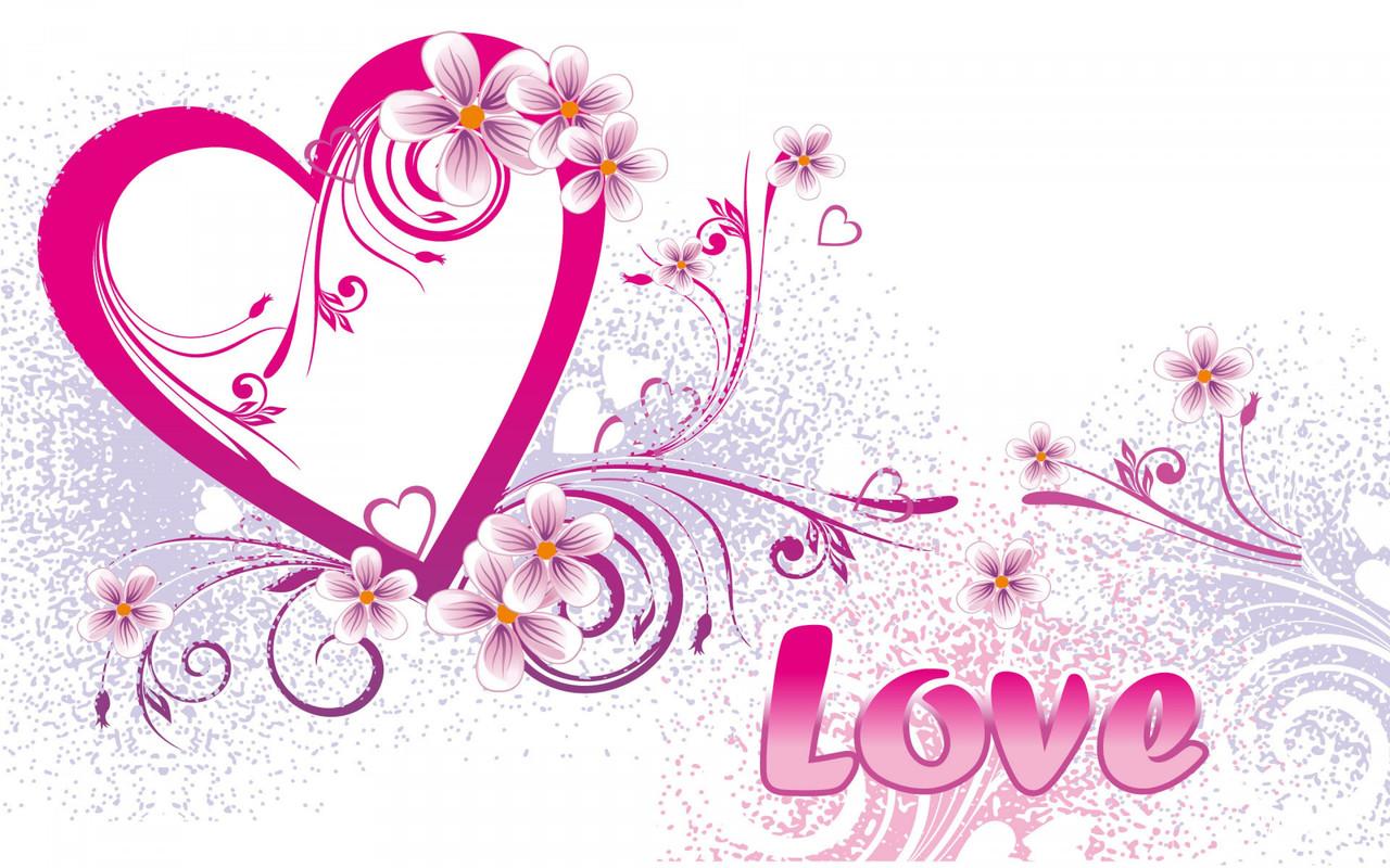 """Картина на склі """"Ріпк-love-hearts"""""""