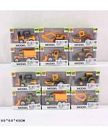 Набор маленьких машинок SQ80992-1, машинки металлические стройтехника в коробке 9,5*6*4,5см, детские машинки