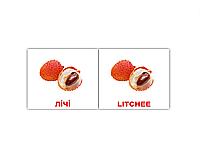 """Карточки мини украинско-английские """"Фрукти/Fruit"""" 40 карт  097003"""