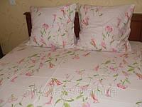 Постельное бельё, сатин, «Лилу цвет: розовый», полуторный