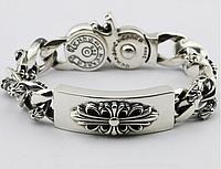 Мужской серебряный браслет Chrome Hearts Кельтский Крест 122,39 гр