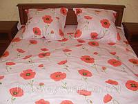 Постельное белье, миткаль, «Маки» двухспальный