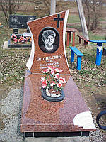Памятник из красного гранита № 91