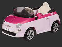 Детский электромобиль Fiat 500  Peg Perego RC-control (розовый)