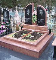 Памятник из красного гранита № 98, фото 1