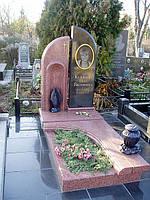Памятник из красного гранита № 99