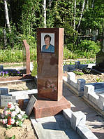 Памятник из красного гранита № 908