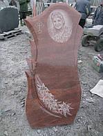 Памятник из красного гранита № 909