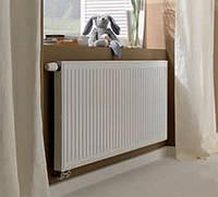 Радиатор стальной с нижним подключением 11 400x400