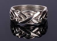 Серебряное мужское кольцо головоломка от Wickerring , фото 1