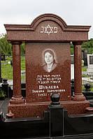 Памятник из красного гранита № 924