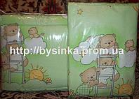 """Детское постельное белье в кроватку-""""Зеленые мишки на лестнице"""".Цвета в ассортименте"""