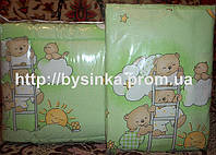 """Детское постельное белье в кроватку-""""Зеленые мишки на лестнице"""".Цвета в ассортименте, фото 1"""