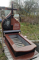 Памятник из красного гранита № 932
