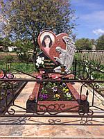 Памятник из красного гранита № 933
