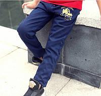 Котонові штани для хлопчика на флісі 140 зростання, фото 1