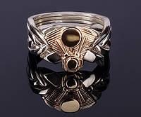 Кольцо из серебра и золота «Движок» от Wickerring