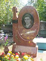 Памятник из красного гранита № 941