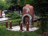 Памятник из красного гранита № 945