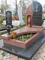 Памятник из красного гранита № 947