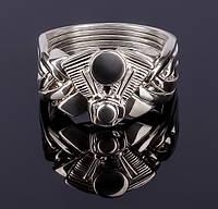 Серебряное кольцо головоломка «Движок» от Wickerring, фото 1