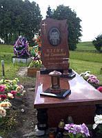 Памятник из красного гранита № 963, фото 1