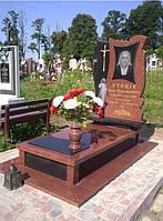 Памятник из красного гранита № 964, фото 1