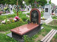 Памятник из красного гранита № 966