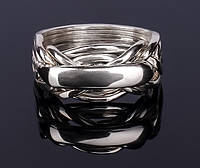 Мужское кольцо-головоломка из серебра от Wickerring