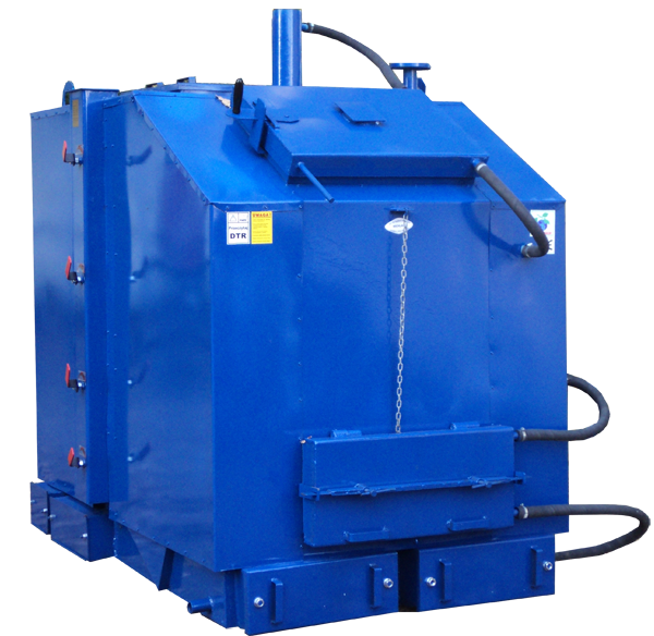Промышленные универсальные котлы отопления длительного горения Идмар KW-GSN 800 - на дровах и угле