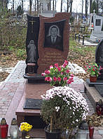 Памятник из красного гранита № 967, фото 1