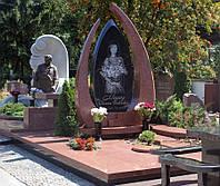 Памятник из красного гранита № 971, фото 1