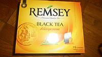 Ramsey черный чай, 75 пакетиков, 150 г