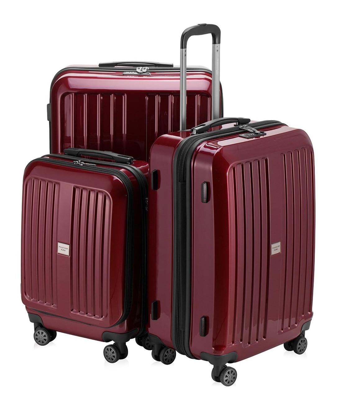 Набор дорожных чемоданов HAUPTSTADTKOFFER xberg set red