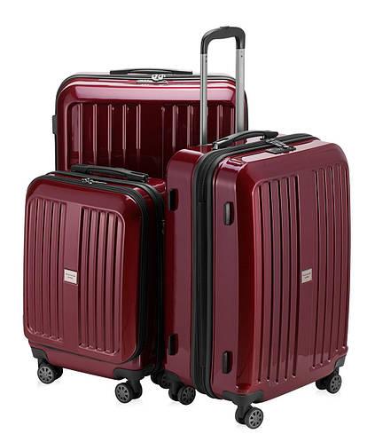 Набор пластиковых дорожных чемоданов HAUPTSTADTKOFFER xberg set red красный