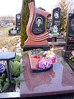 Памятник из красного гранита № 994, фото 1