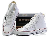 """Кеды Converse All Star Высокие """"Белые"""" (Копия ААА+), фото 1"""