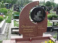Памятник из красного гранита № 998, фото 1