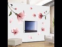 Интерьерная декоративная наклейка виниловая романтический нежный цветок лилии