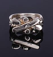 Серебряное кольцо головоломка от Wickerring, фото 1
