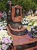 Памятник из красного гранита № 9018