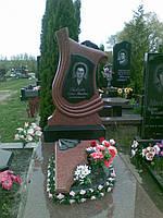 Памятник из красного гранита № 9021