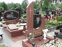Памятник из красного гранита № 9024